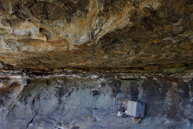 Jesse Hickman's hideout cave - her cupboard is still there