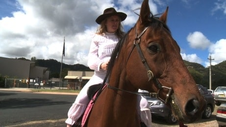 Lady Bushranger rocks into town