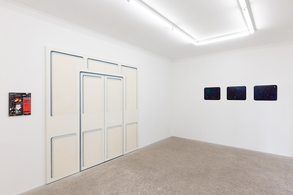 Open the pod bay doors please HAL, 2017, painting installation, document